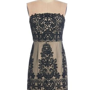 NWT - Black Lace Strapless Dress